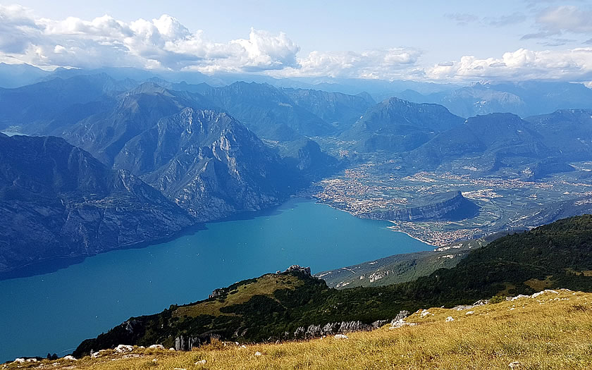The panorama from Monte Baldo at Malcesine