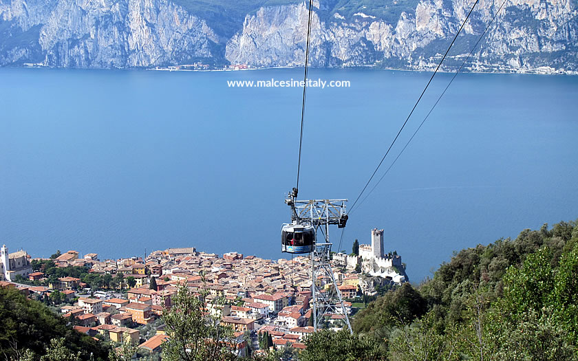 The cable car at Malcesine