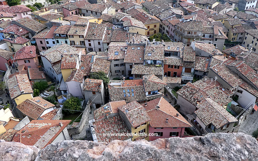 The rooftops of the old town centre at Malcesine