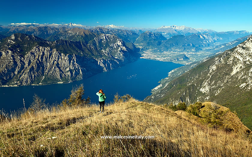 The view to the north of Lake Garda from Monte Baldo at Malcesine
